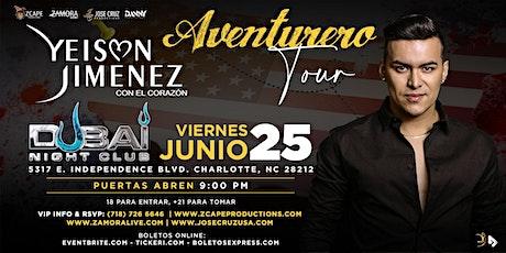 "YEISON JIMÉNEZ ""AVENTURERO TOUR"" CHARLOTTE, NC tickets"
