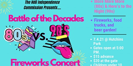 Battle of the Decades Fireworks Concert tickets