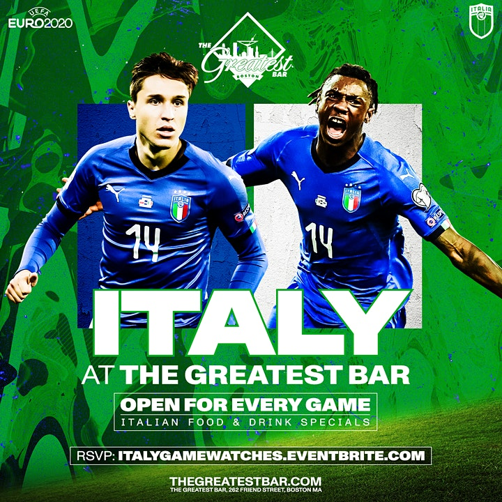UEFA Euro 2020 Italy Game Watches at The Greatest Bar! image