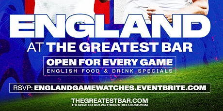 UEFA Euro 2020 England Game Watches at The Greatest Bar! tickets