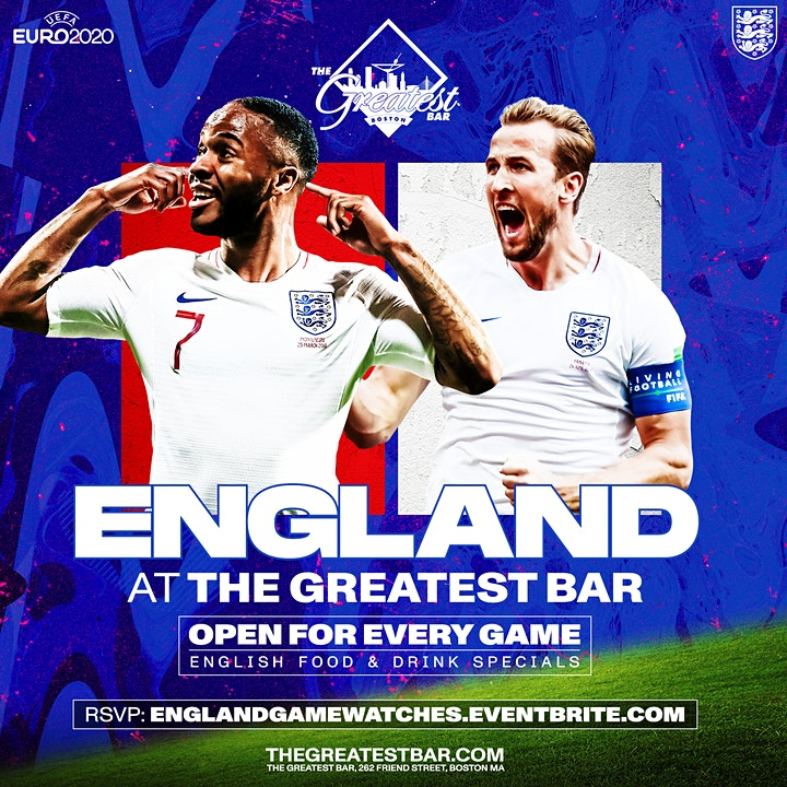 UEFA Euro 2020 England Game Watches at The Greatest Bar! image