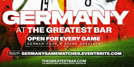 UEFA Euro 2020 Germany Game Watches at The Greatest Bar! tickets