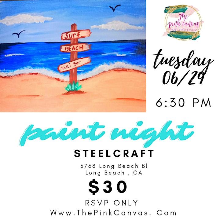 Life's a Beach Paint Night image