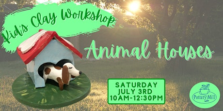 Kid's Clay Hand-building Workshop-Animal Houses tickets