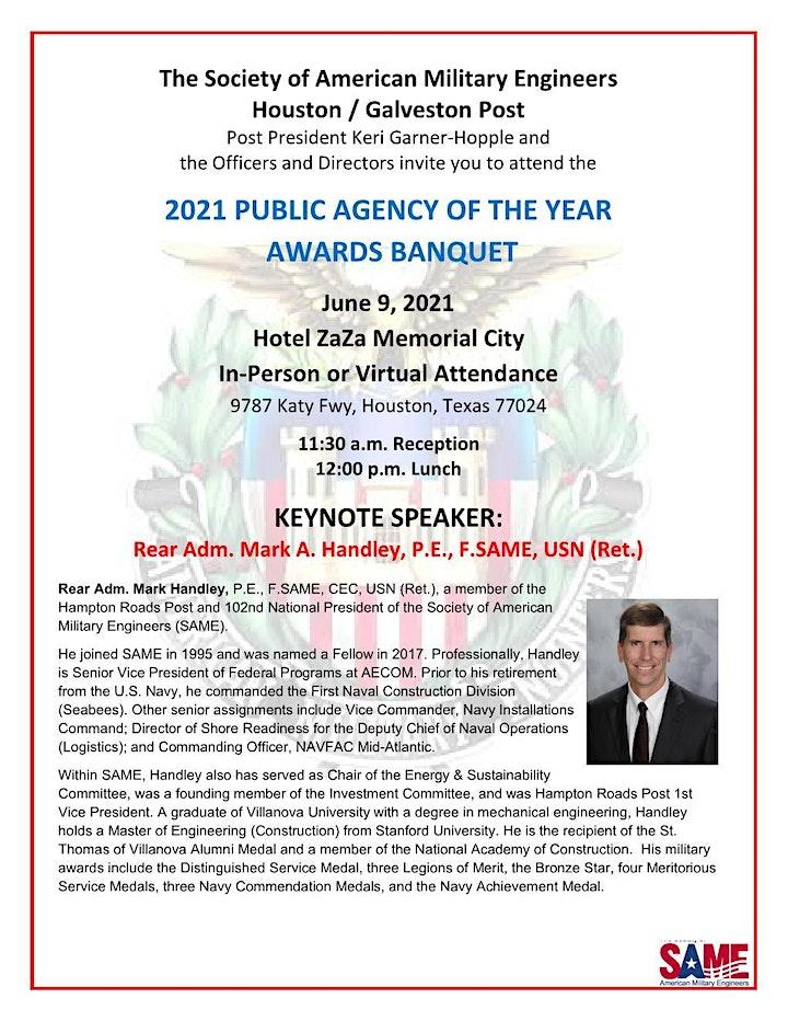 SAME June 2021 Public Agency Banquet Virtual Option image