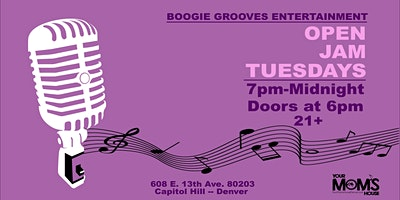 Open Jam Tuesdays  7/13