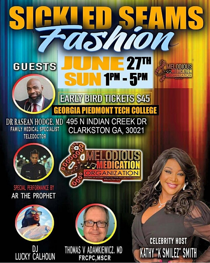 Melodious Medication Presents Sickled Seams -Fashion Show Fundraiser image