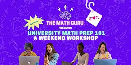 (Virtual) University Math Prep 101! tickets