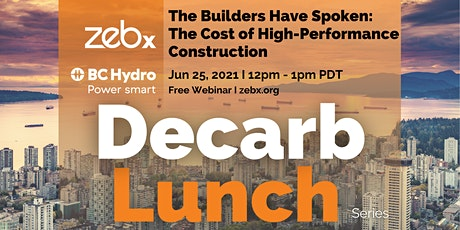 ZEBx Decarb Lunch - Jun 2021 tickets
