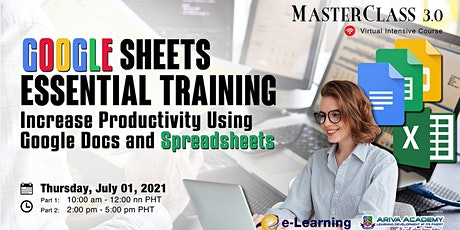 Google Sheets Essential Training: Increase Productivity Using Google Docs a tickets