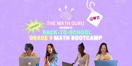 (Virtual) Back-to-School Math Bootcamp: Get Ready for Grade 9! tickets