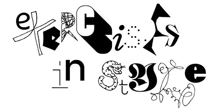 Letterform Lecture: Exercises in Style with Ellmer Stefan tickets