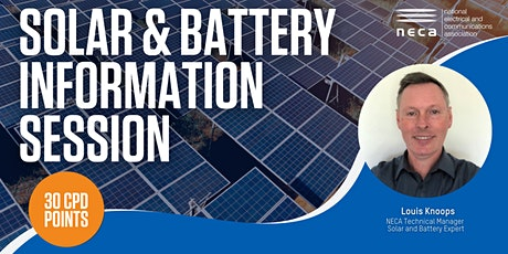 NECA Solar & Battery Information tickets