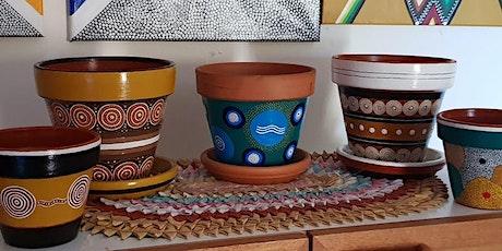 Aboriginal designed Pot Decorating tickets