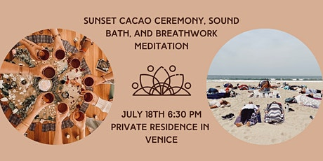 Sunset Cacao Ceremony, Sound Bath, and Breathwork Meditation tickets