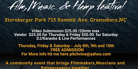 1st Annual Hotter Than July Film,Music, Hemp, and  Vendors Market tickets