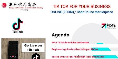 Tik Tok Marketing For Business  (Please Register at +65 97291151) billets