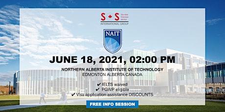 Study at NAIT Edmonton Alberta tickets