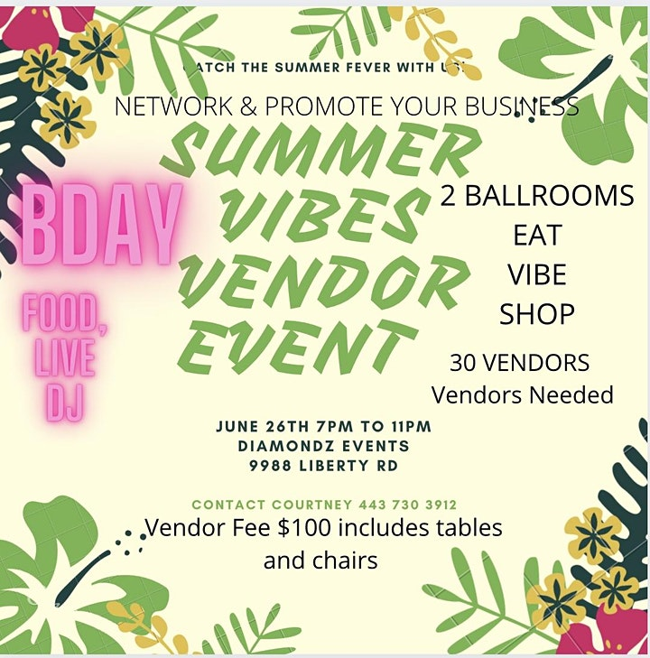 Summer Vibes  Networking Event image