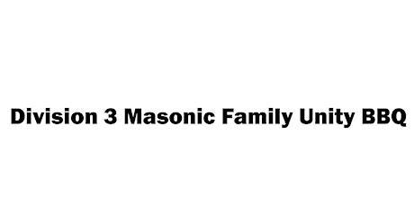 Division 3 Masonic Family Unity BBQ tickets