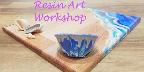 Creative Beginnings - Resin Art Workshop - Cheeseboard set tickets