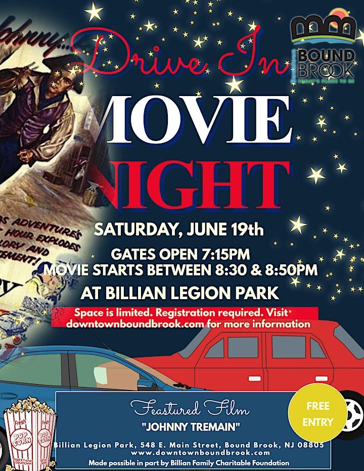 DRIVE-IN MOVIE NIGHT AT BILLIAN LEGION PARK- JOHNNY TREMAIN image