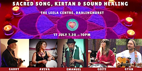 Sacred Song, Kirtan & Sound Healing with Geeti & Gyan + friends - Sydney tickets