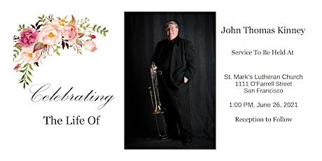 John Kinney memorial service tickets