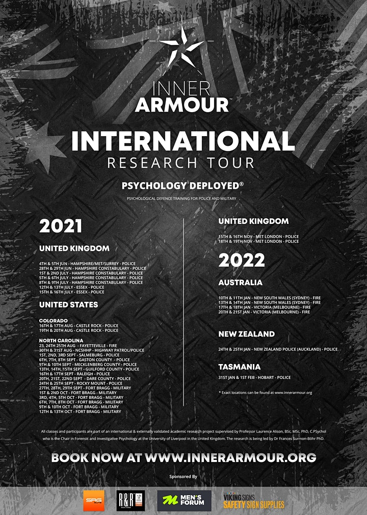 Inner Armour®Psychology Deployed® Defence Training (FORT BRAGG ) image