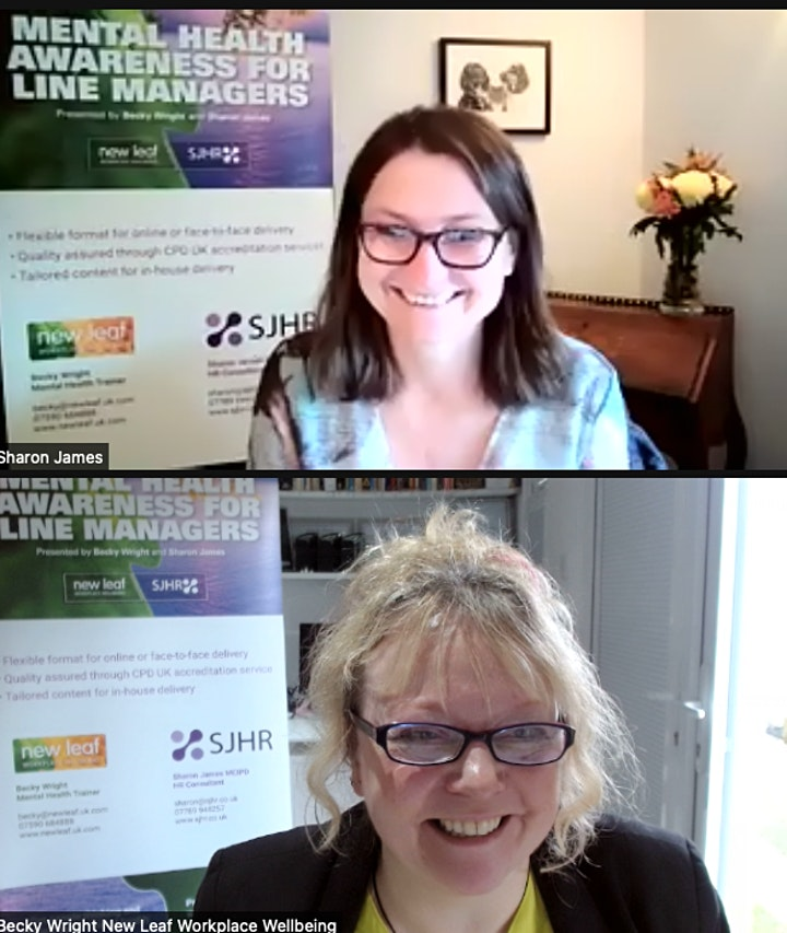 Mental Health Awareness for Line Managers ONLINE over two morning sessions image