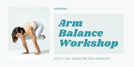 Arm Balance Workshop With Adriana tickets
