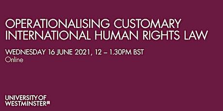 Operationalising Customary International Human Rights Law tickets