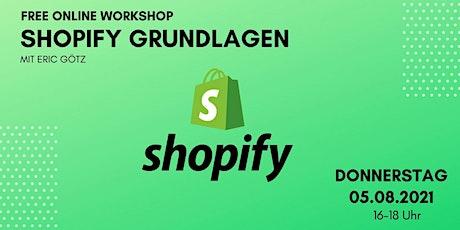 Grundlagen Shopify Webinar tickets