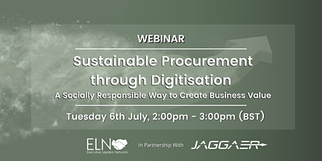 Webinar: Sustainable Procurement through Digitisation tickets