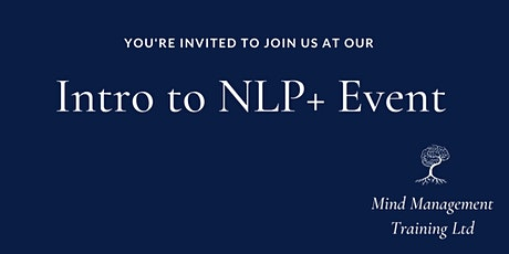 Intro to NLP+ , Time Line Resourcing, Hypnotherapy tickets