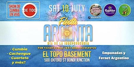 FIESTA ARGENTA DIA DE LA INDEPENDENCIA - 10/07 tickets