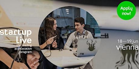 Startup Live Vienna Program — grow your network Tickets