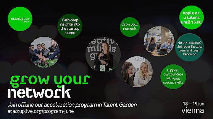 Startup Live Vienna Program — grow your network image
