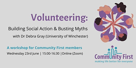 Building Social Action & Busting Myths: A Community First Members Workshop tickets