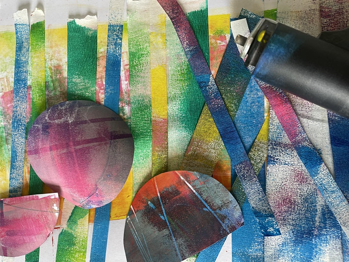Gel Plate Printing Course, Weekly Drop in Sessions image