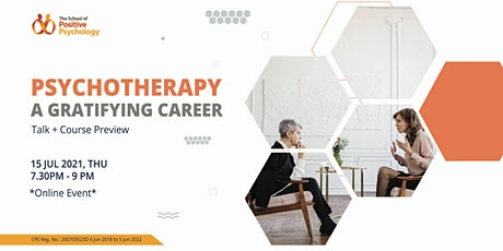Psychotherapy – a gratifying career in mental health (Talk + Preview) tickets