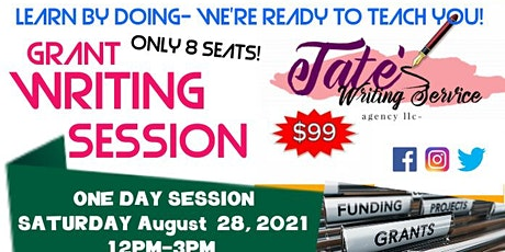 Learn by doing! Grant Writing Session tickets