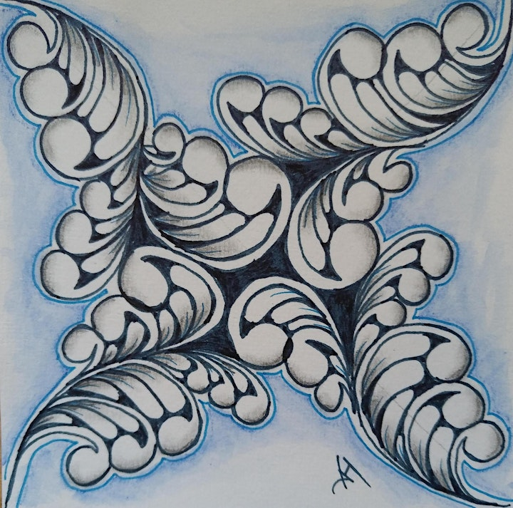 Zentangle Intermediate Course starts  July  16  (8 sessions) image