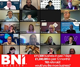 BNI Chester - FREE Online Networking Event tickets