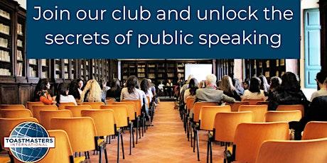 Public Speaking is Fun - (FREE) tickets