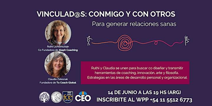 Imagen de WEBINAR  PARTICIPATIVO  | Vinculad@s: conmigo y con otros