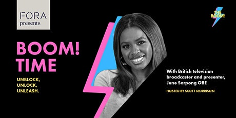 Boom! Time with June Sarpong of the BBC tickets