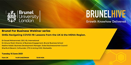 SMEs Navigating COVID-19 : Lessons from the UK & the MENA Region. tickets
