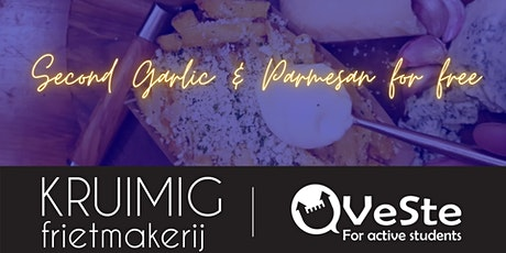 """VeSte * Kruimig """"second Parmesan & Garlic fries for free"""" coupon tickets"""