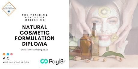 Natural Cosmetic Formulation Diploma biglietti